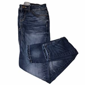 BKE mid rise skinny blue jeans light/dark wash